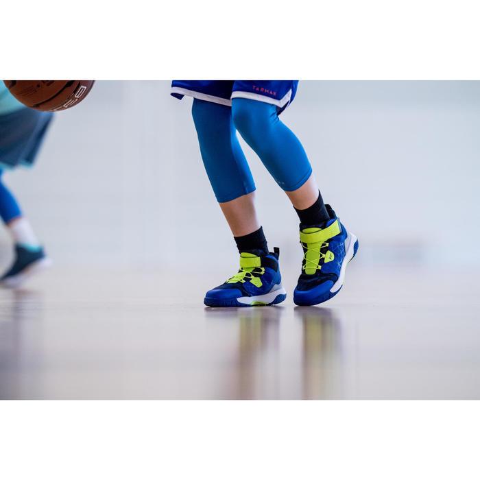Basketbalsokken voor kinderen niveau gevorderden mid zwart 2 paar