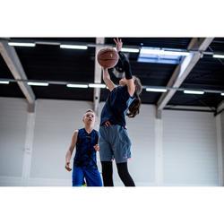 Beschermende sleeve voor basketbal gevorderde kinderen zwart