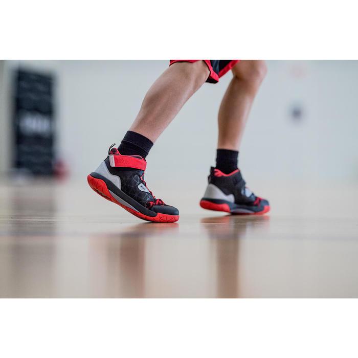 兒童款中筒籃球襪(中階球員)2雙入-黑色