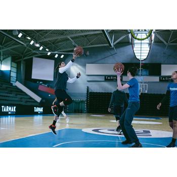 Basketbalschoenen volwassenen H/D beginners zwart/wit/rood
