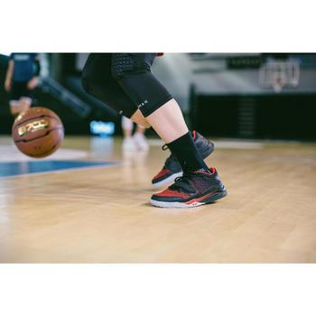 Basketbal beensleeve voor gevorderde volwassenen zwart
