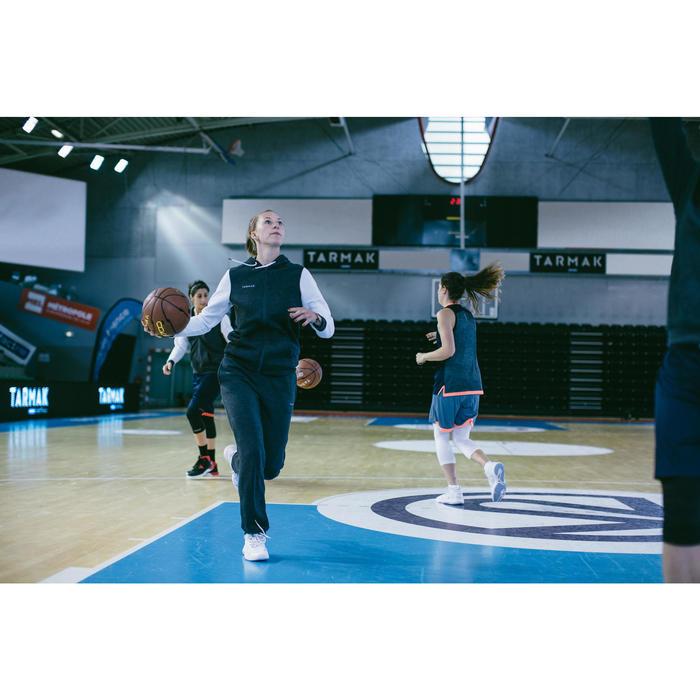 Trainingshose Basketball P100 Damen dunkelgrau