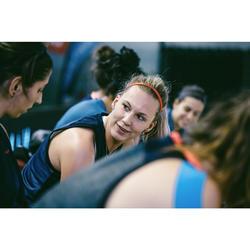Haarband Gummibänder Set Basketball Damen schwarz/grau/rot