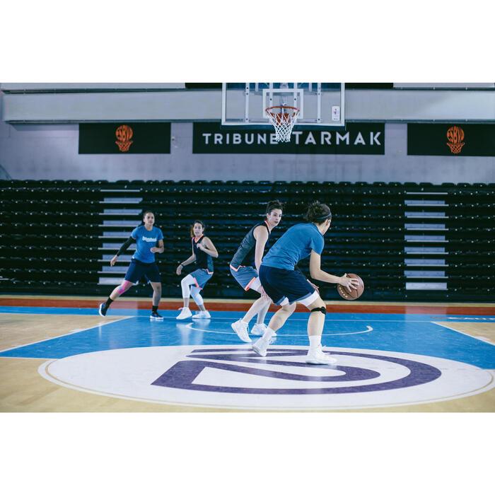 CHAUSSURE DE BASKETBALL POUR ADULTE H/F JOUEUR CONFIRME SC500 MID BLANC