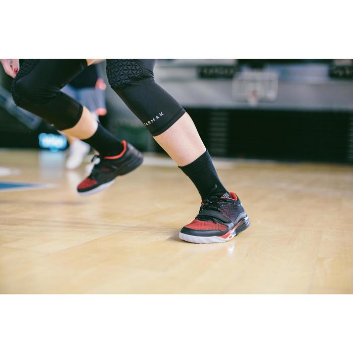 Basketballsocken Mid 500 Erwachsene 2er-Pack schwarz