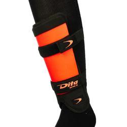 Scheenbeschermer voor veldhockey, gemiddeld intensief, kinderen, Ortho, oranje