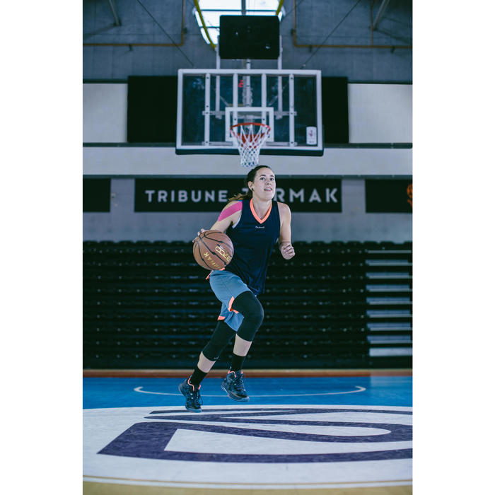 Basketballsocken SO500 Mid x2 Erwachsene schwarz