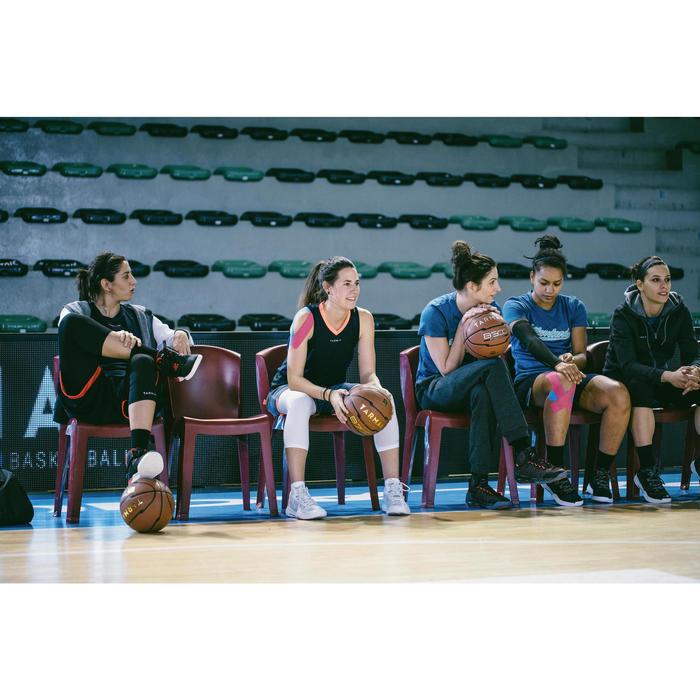 Basketballschuhe SC500 Mid Damen/Herren Fortgeschrittene schwarz/weiß