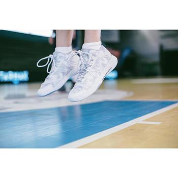 LOT DE 2 PAIRES DE CHAUSSETTES BASSES BASKETBALL HOMME/FEMME SO500 LOW BLANC