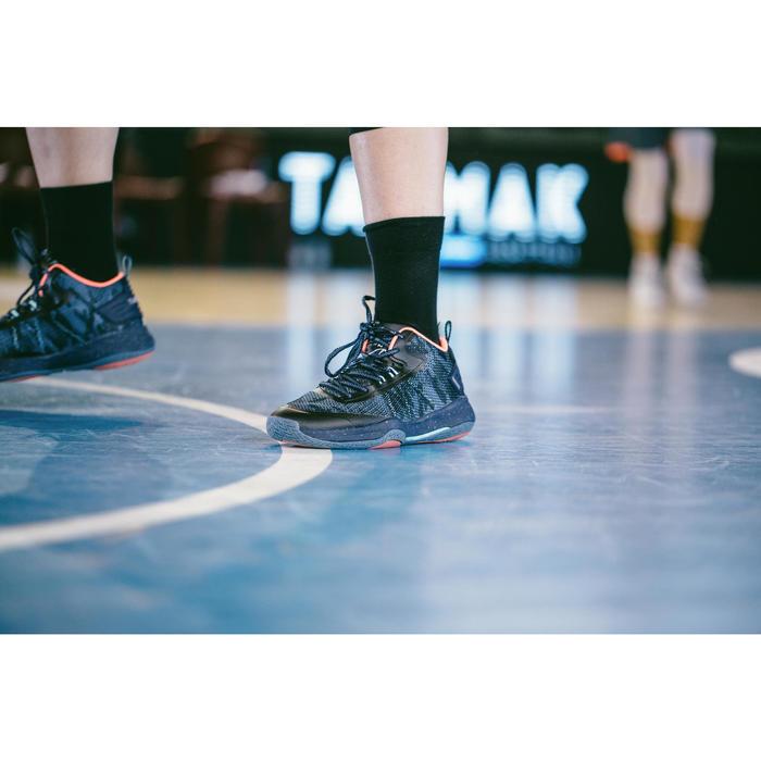 Set van 2 paar basketbalsokken heren/dames Mid 500 zwart