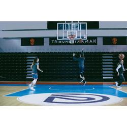 CHAUSSURE DE BASKETBALL POUR ADULTE H/F JOUEUR CONFIRME SC500 MID NOIR BLANC