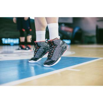Basketballsocken Mid 500 Damen/Herren 2er-Pack weiß