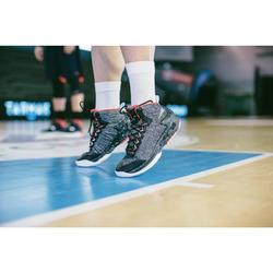 Men's/Women's Basketball Mid Socks 2-Pack SO500 - White