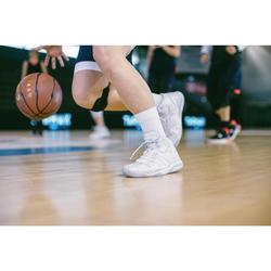 Basketballsocken SO500 Mid x2 Erwachsene weiß