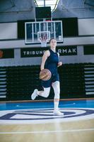 Lot de 2 paires de chaussettes de basketball 500 moyennes blanches - H/F