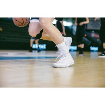 Set van 2 paar basketbalsokken voor heren/dames SO500 Mid wit
