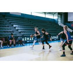 CHAUSSURE BASKETBALL POUR ADULTE H/F DEBUTANT noir/blanc/rouge