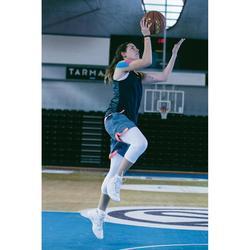 Basketbalschoenen volwassenen H/D gevorderden SC 500 mid wit