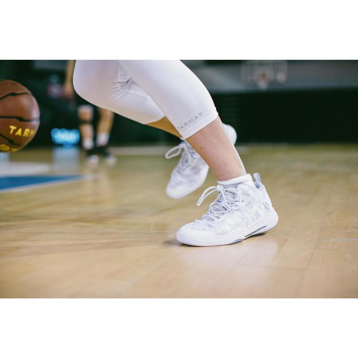 2 paar lage basketbalsokken heren/dames SO500 Low wit