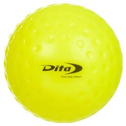 Balle de hockey sur gazon alvéolée Dimpled jaune