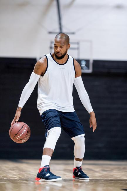 Beginner Basketball Shoes Shield 300 - Blue/White/Red