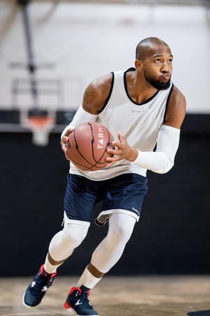 Chaussure de basketball débutant SHIELD 300 bleu/blanc/rouge