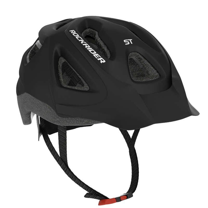PŘILBY NA HORSKÁ KOLA Cyklistika - PŘILBA NA MTB ST 100 ČERNÁ ROCKRIDER - Helmy, oblečení, obuv