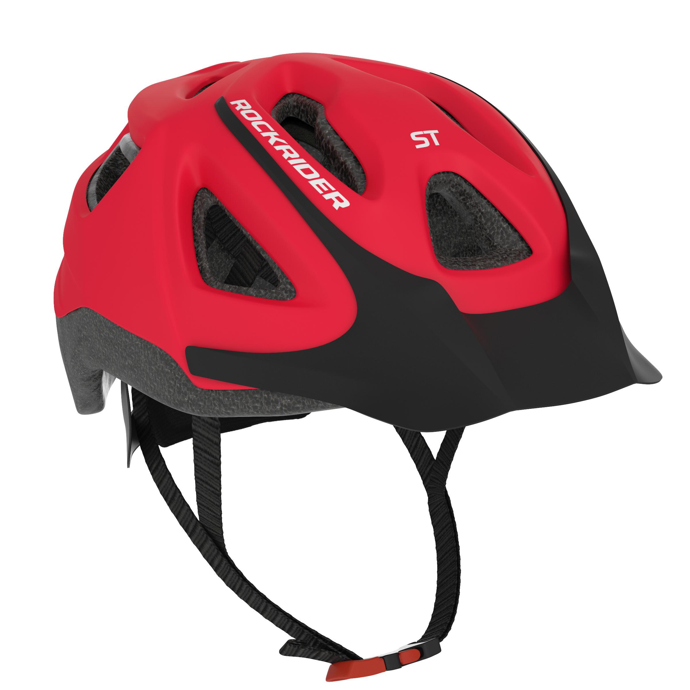 Rockrider Mountainbikehelm ST 100 rood kopen