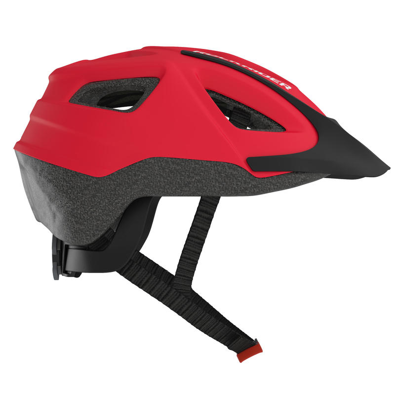 ST 100 Mountain Biking Helmet - Red