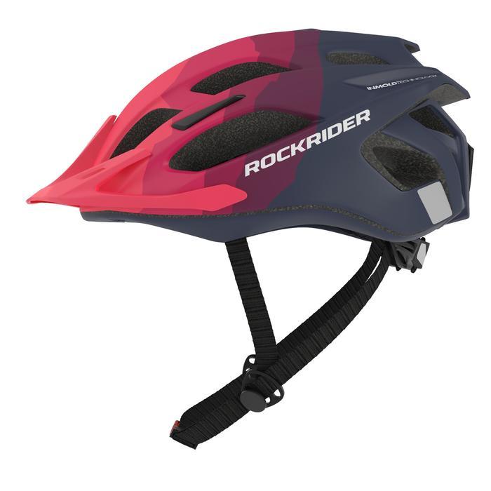 MTB helm ST 500 blauw roze fietshelm