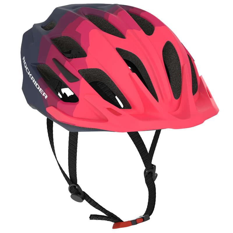 PŘILBY NA HORSKÁ KOLA Cyklistika - PŘILBA NA MTB 500 MODRÁ ROCKRIDER - Helmy, oblečení, obuv