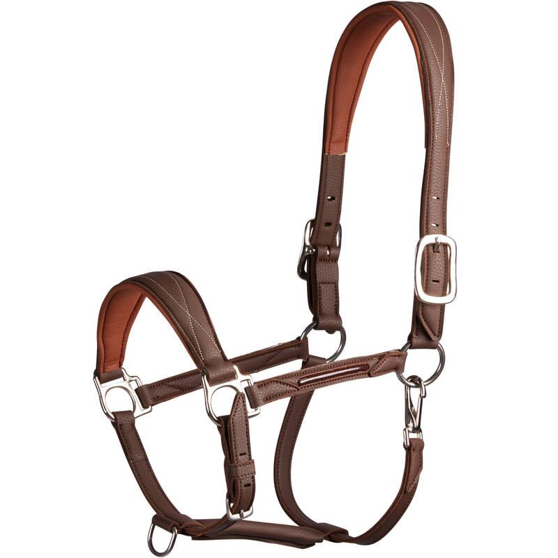 OHLÁVKY NEBO LONŽE Jezdectví - OHLÁVKA 500 HNĚDÁ FOUGANZA - Péče o koně