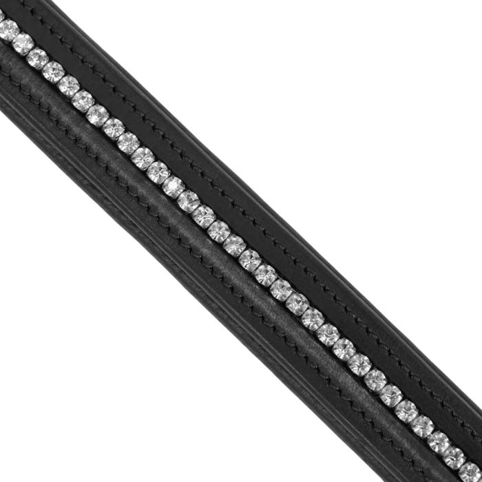 Frontal équitation 500 STRASS noir - taille cheval