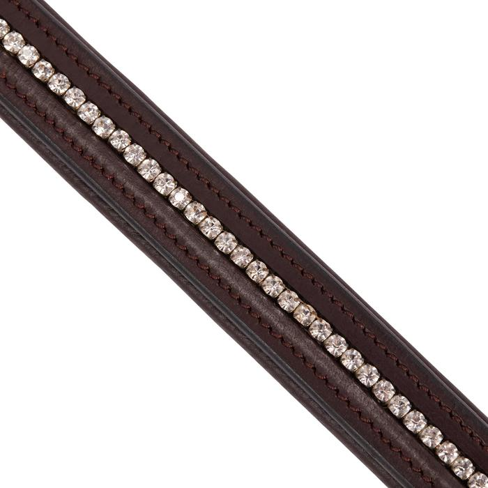 Frontal équitation 500 STRASS marron - taille cheval