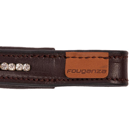 500 Rhinestone Horse Riding Brow Band For Horse - Brown