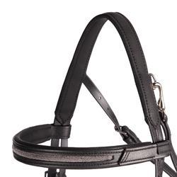 Hoofdstel + teugels Shinny 500 zwart paardenmaat