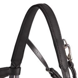 Filet + rênes équitation 500 SHINNY noir - taille cheval