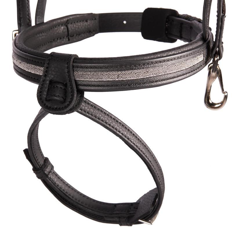 ชุดบังเหียนสำหรับม้าโตรุ่น Shinny 500 (สีดำ)
