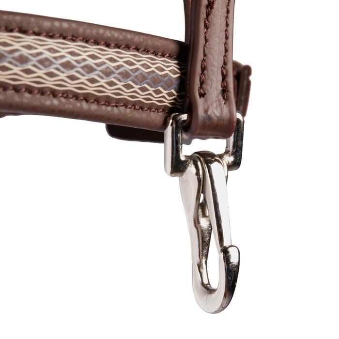 Hoofdstel + teugels ruitersport 500 Print bruin voor paarden