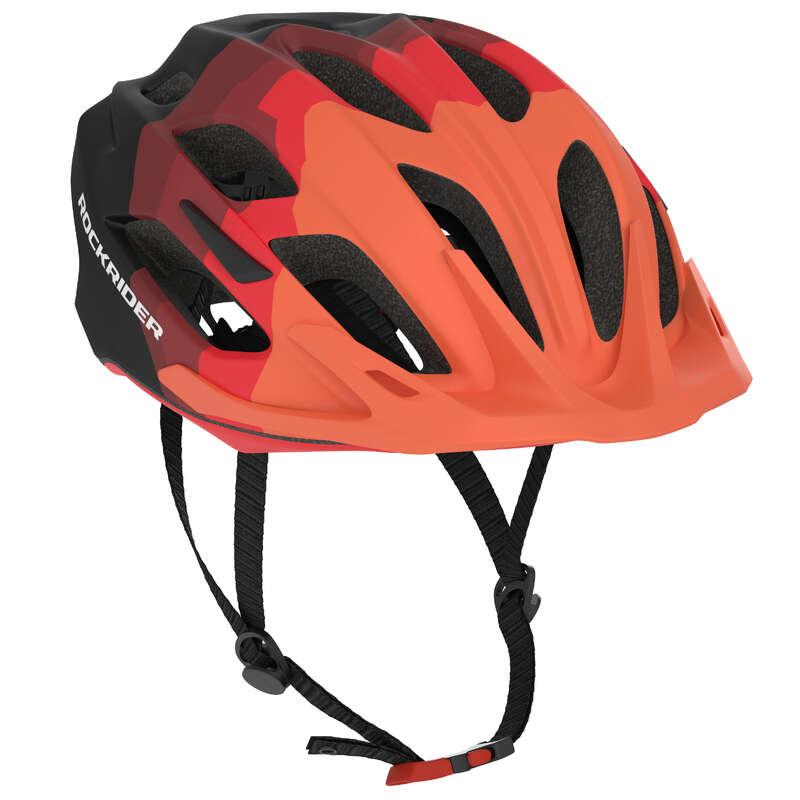 SPORT TRAIL MTB HELMETS ADULT Cycling - ST 500 MTB Helmet - Black/Red ROCKRIDER - Cycling