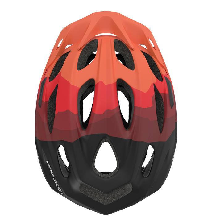 Casque VTT 500 noir rouge