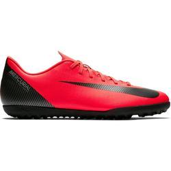 Voetbalschoenen Mercurial Vapor XII Club CR7 TF voor volwassenen rood/zwart