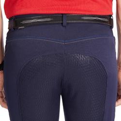 Pantalon équitation homme 580 FULLGRIP assise silicone marine
