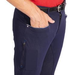 Reithose 580 Full Grip Silikonvollbesatz Herren marineblau