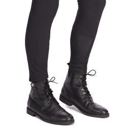 矽膠圖騰馬褲700-黑色