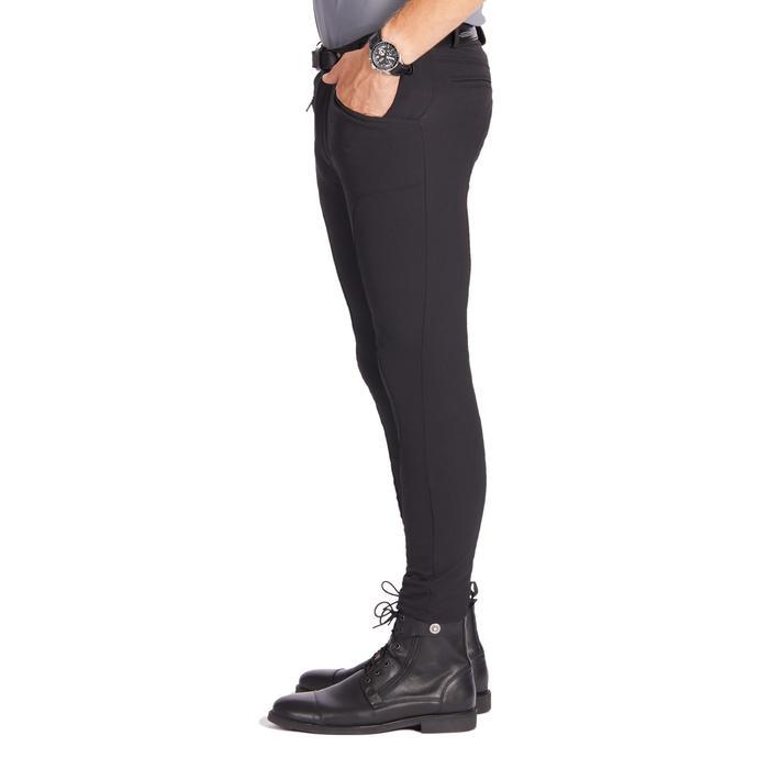 Reithose 700 Silikon Kniebesatz Herren schwarz