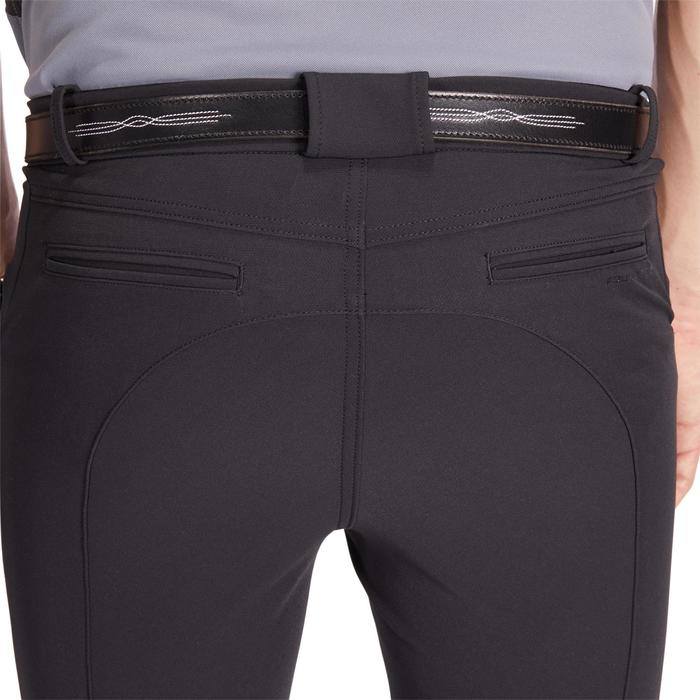 Pantalon équitation homme 700 basanes silicone noir