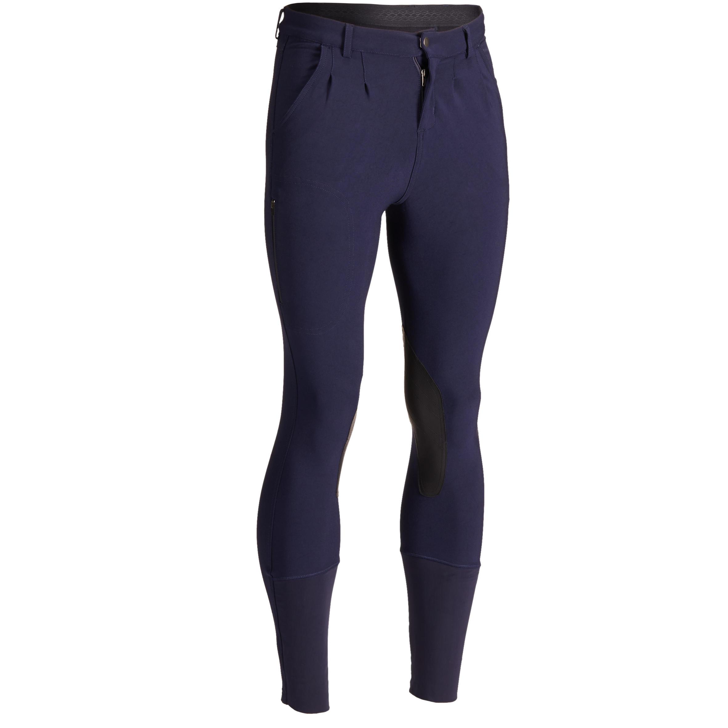 Pantalon 500 bleumarin bărbaţi