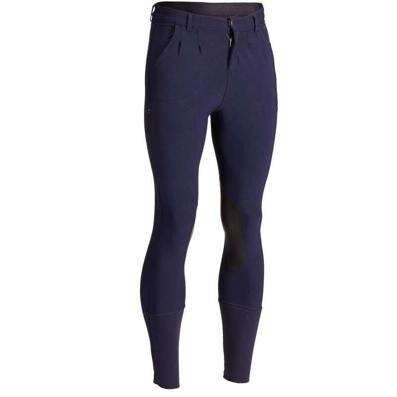 Îmbrăcăminte echitație bărbați Echitatie - Pantalon 500 bleumarin bărbaţi FOUGANZA - Echitatie