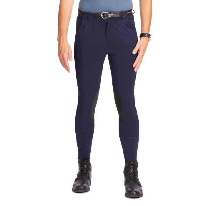 Pantalon équitation homme 500 basanes agrippantes marine